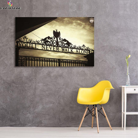 Image of Liverpool club gate canvas wall art