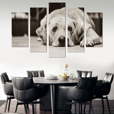 5PCS Cute Golden Retriever Canvas Wall Art - Canvas Monsters