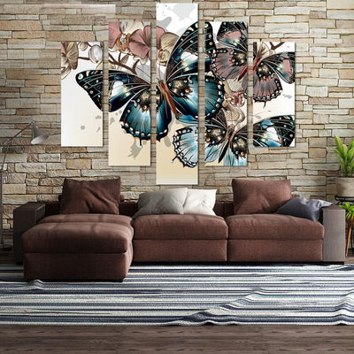 Butterfly canvas wall art