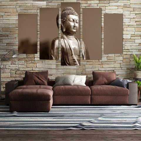 5PCS Buddha Canvas Wall Art