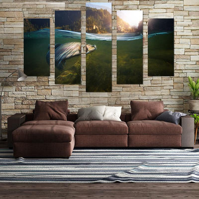 Hooked Fish Canvas Wall Art - Canvas Monsters