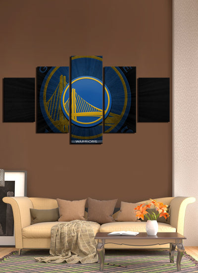 Golden Bridge Warriors Flag - Canvas Monsters