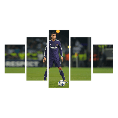 C Ronaldo Kicking Ball Real Madrid