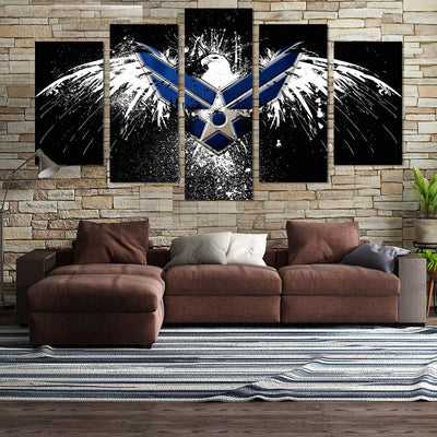 Air Force Eagle License Canvas Wall Art - Canvas Monsters
