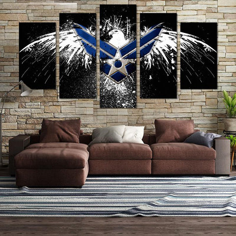 Image of Air Force Eagle License Canvas Wall Art