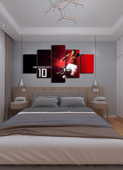 Totti 10 Canvas Wall Art - Canvas Monsters