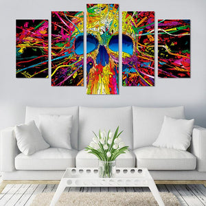Colorful Skull Canvas Wall Art