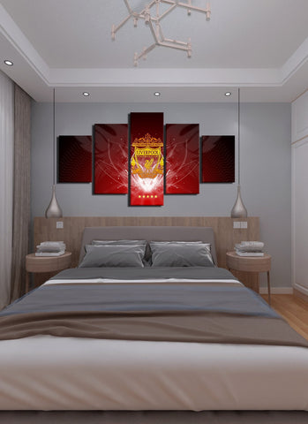 Shining Liver Pool Flag Canvas Wall Art