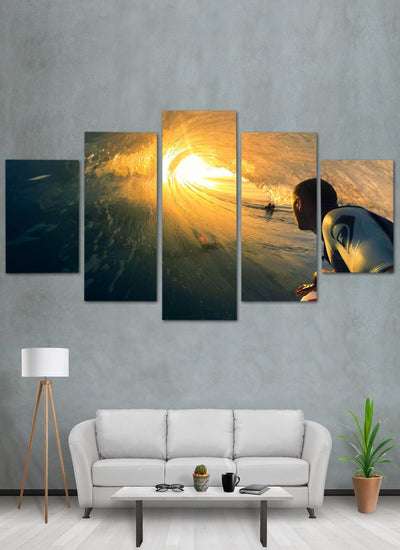 Surfing Man Canvas Wall Art - Canvas Monsters