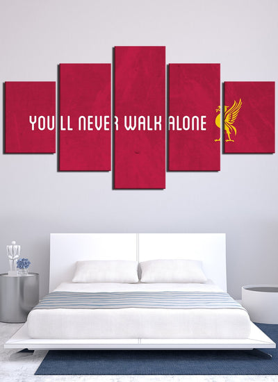 You Will Never Walk Alone Liver Pool Canvas Wall Art