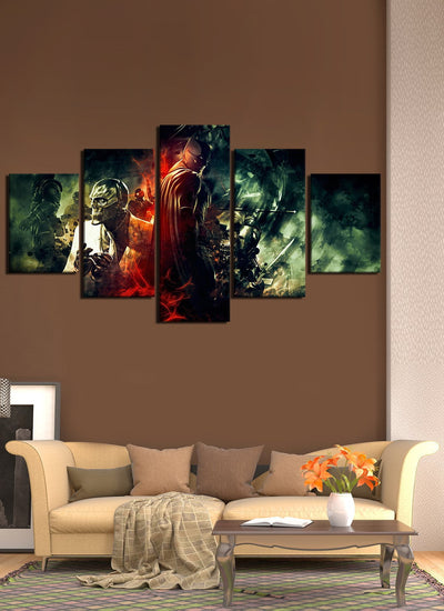 Batman Versus Evil Canvas Wall Art - Canvas Monsters