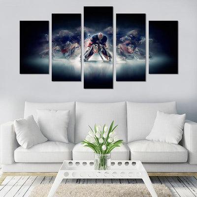 Ice Hockey Player Canvas Wall Art