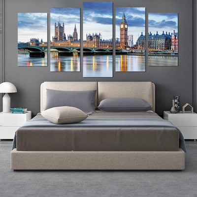 London View canvas wall art