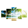 Coconut Tree Beach Canvas Wall Art