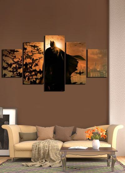 Batman stand on top canvas wall art