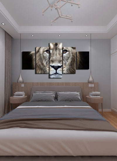 Cool Lion Canvas Wall Art - Canvas Monsters