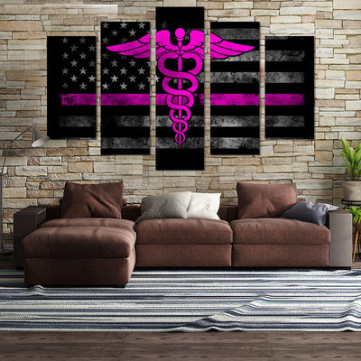 5PCS Nurse Practitioner Canvas Wall Art