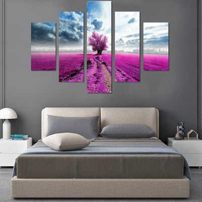 5PCS Flower Path Canvas Wall Art - Canvas Monsters