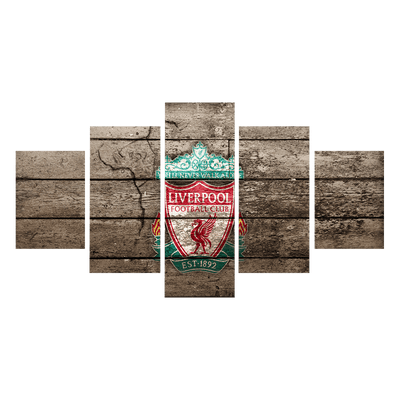 Liverpool Flag Canvas Wall Art - Canvas Monsters