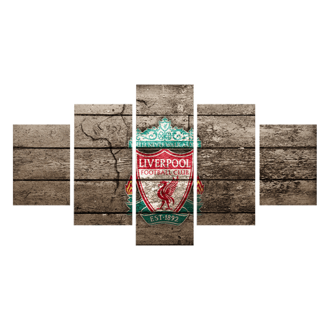 Image of Liverpool Flag Canvas Wall Art
