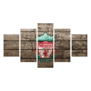 Liverpool Flag Canvas Wall Art