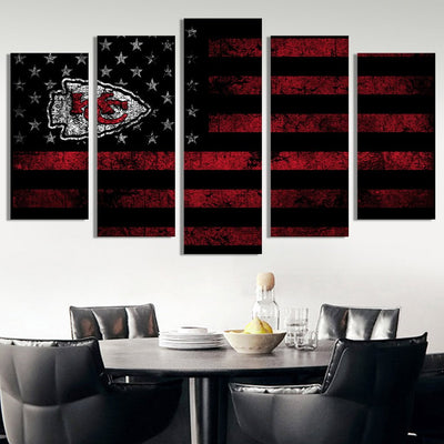 Kansas City Chiefs American flag Canvas Prints - Canvas Monsters