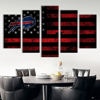 Buffalo Bills American flag Canvas Prints - Canvas Monsters