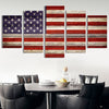 Vintage American Flag canvas wall art