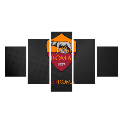 AS Roma Canvas Wall Art - Canvas Monsters