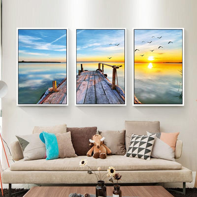 Abstract Bridge Canvas Wall Art