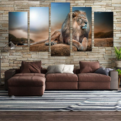 5PCS Lion Canvas Wall Art