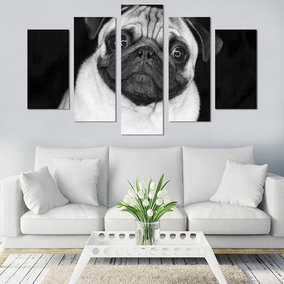 5PCS Surprising Pug Canvas Wall Art - Canvas Monsters