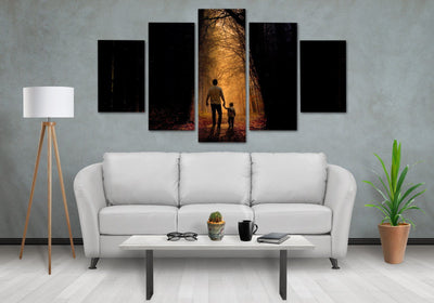 Father & Son Special Moment - Canvas Monsters