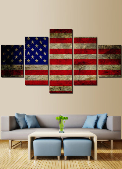 Custom American Flag Canvas Painting Prints in USA