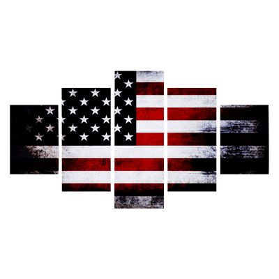 Dark Faded American Flag Canvas Prints