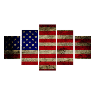 Custom American Flag Canvas Painting Prints in USA - Canvas Monsters