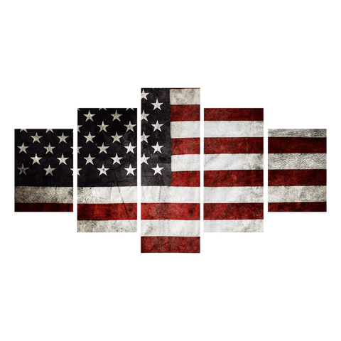 Vintage Grunge American Flag Canvas Prints
