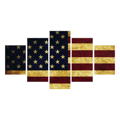 Dark Vintage American Flag canvas prints