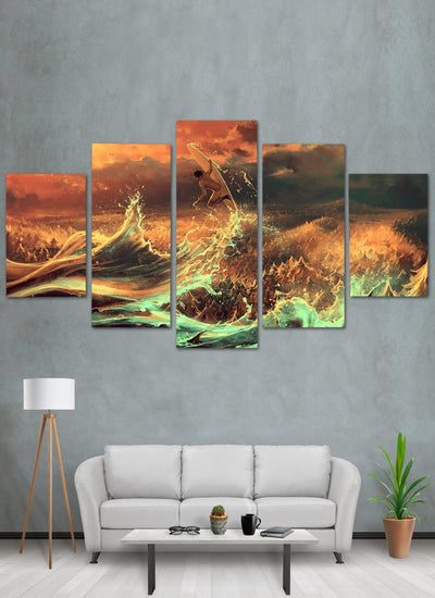 Surfing Canvas Wall Art