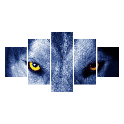 Wolf Eyes Canvas Wall Art - Canvas Monsters