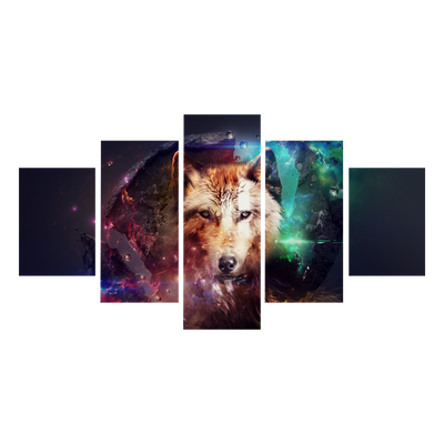 Space Wolf Canvas Wall Art