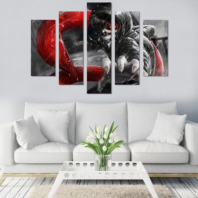 Ken Kaneki Canvas Wall Art - Canvas Monsters