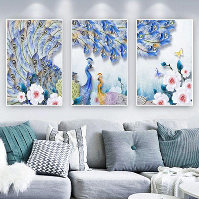 3 PCS Peacock Lover Canvas Prints - Canvas Monsters