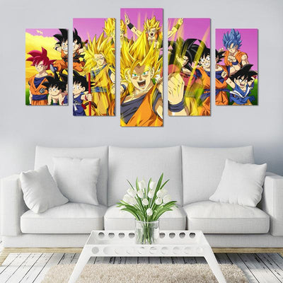 Dragon Ball Super Saiyans Canvas Wall Art