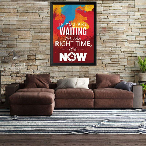 The Right Time Is Now Canvas Wall Art