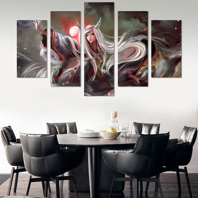 Kaguya Otsutsuki Canvas Wall Art - Canvas Monsters