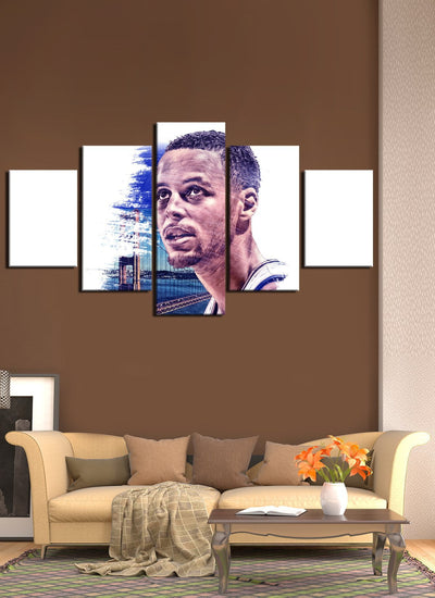 Curry Self - Portrait Warriors - Canvas Monsters