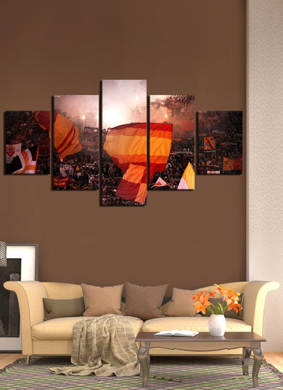 Roma Fans Canvas Wall Art
