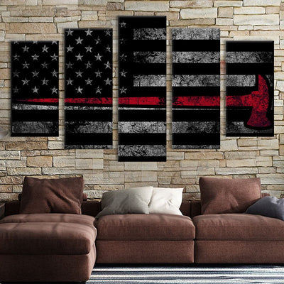 5pcs Axe American flag Canvas Prints - Canvas Monsters