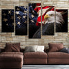 Flying American Flag with Eagle Canvas Prints - Canvas Monsters